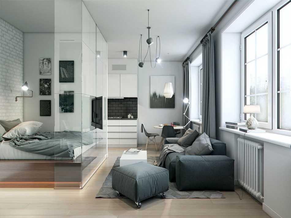 дизайн квартиры 40 кв м 7