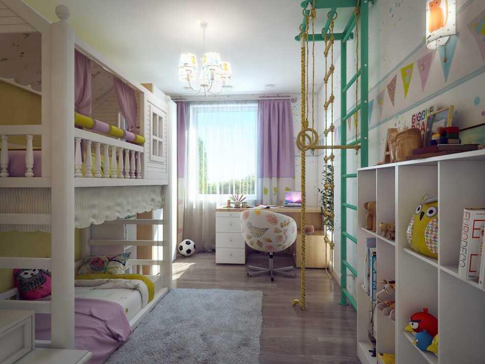 дизайн детской для мальчика и девочки 6