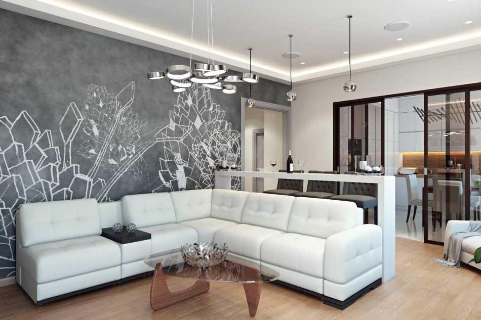 дизайн зала 17 квм в квартире фото реальные 2