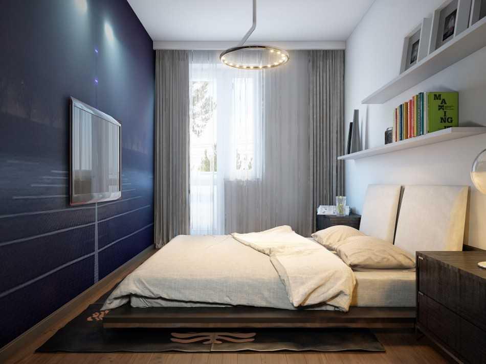 дизайн узкой комнаты с окном в конце 7
